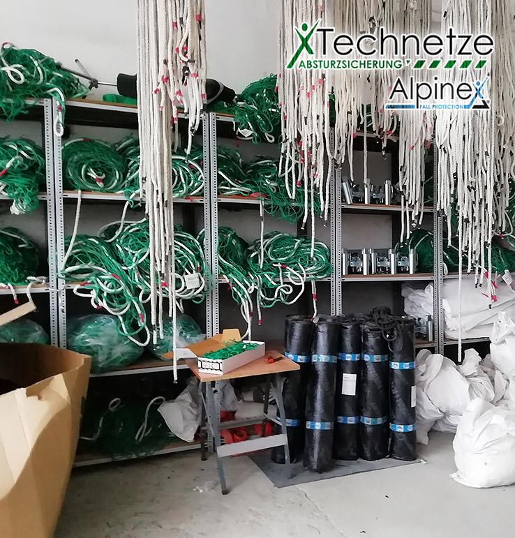 Sicherheitsnetze EN 1263-1, Seitenschutznetze, Montagezubehör Auffangnetze