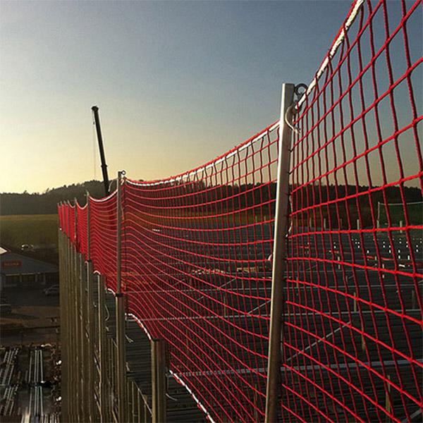 """Seitenschutznetze Typ """"U"""" für den vertikalen Einsatz, Sicherheitsnetze EN 1263-1, EN 13374"""